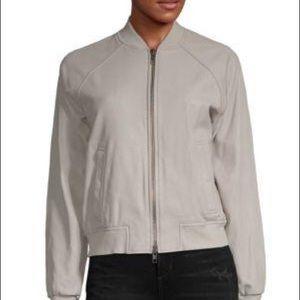 NWT Vince Leather Bomber Jacket